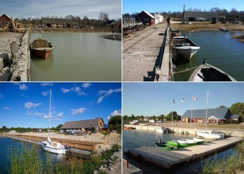 Koguva sadam enne ja pärast