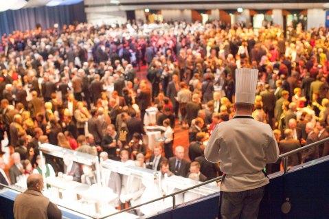 Grüne Woche avatseremoonial sõi Eesti toitu pea 5000 rahvusvahelist külalist enam kui 70 riigist. Foto: Rene Suurkaev