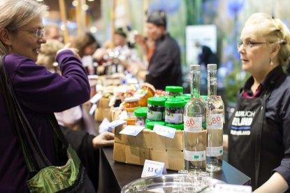 Mahetooted Eesti toidu letil Grüne Wochel. Foto: Rene Suurkaev
