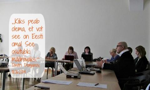 Dmitri Demjanov eesti toidu teemalisel arutelupäeval