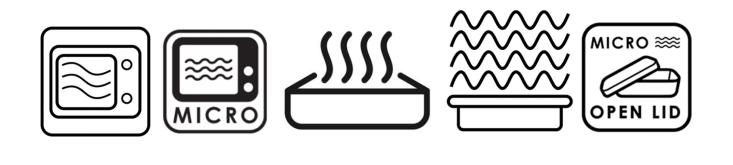 Plastkarpidel mikrolaineahjus kasutamist lubavad märgid